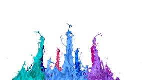Spruzzata di pittura liquida sull'altoparlante di musica animazione 3d in 4k 19 royalty illustrazione gratis