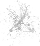 Spruzzata grigia dell'inchiostro Fotografia Stock Libera da Diritti