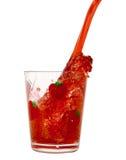 Spruzzata liquida rossa Fotografia Stock Libera da Diritti