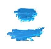 Spruzzata macchiata di pittura isolata Fotografia Stock Libera da Diritti