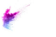 Spruzzata multicolore della polvere Fotografie Stock