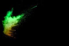 Spruzzata multicolore della polvere Immagini Stock