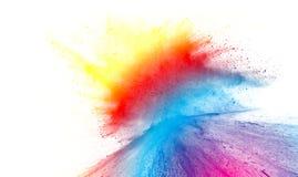 Spruzzata multicolore della polvere Fotografia Stock Libera da Diritti