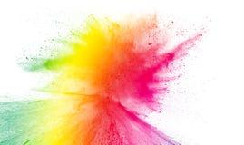 Spruzzata multicolore della polvere Immagine Stock Libera da Diritti