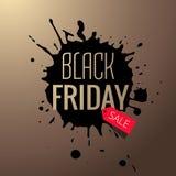 spruzzata nera di vendita di venerdì Fotografie Stock Libere da Diritti
