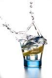 Spruzzata quarta del limone Immagine Stock