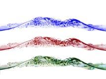 Spruzzata RGB dell'acqua isolata Fotografia Stock Libera da Diritti