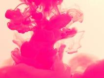 Spruzzata rosa di inchiostro Fotografia Stock Libera da Diritti