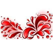 Spruzzata rossa royalty illustrazione gratis