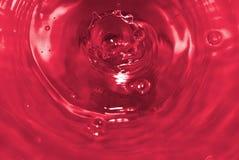 Spruzzata rossa Fotografie Stock