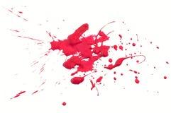 Spruzzata rossa Fotografia Stock