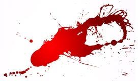 Spruzzata rossa illustrazione vettoriale