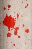 Spruzzata rossa della pittura Fotografie Stock