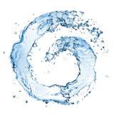Spruzzata rotonda dell'acqua isolata Fotografie Stock Libere da Diritti