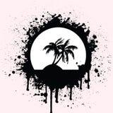 Spruzzata tropicale royalty illustrazione gratis