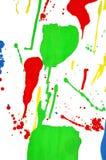 Spruzzata variopinta della pittura Immagini Stock