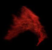 Spruzzata variopinta della polvere su fondo nero Fotografia Stock Libera da Diritti
