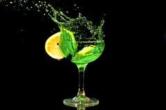 Spruzzata verde del cocktail Immagini Stock Libere da Diritti