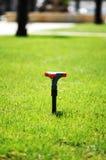 Spruzzatore dell'acqua sull'erba Immagine Stock