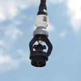 Spruzzatore dell'impianto di irrigazione Fotografie Stock Libere da Diritti
