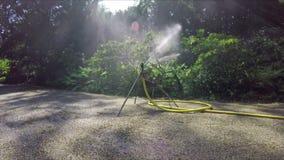 Spruzzatore di irrigazione video d archivio