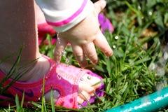 Spruzzatore di sensibilità del bambino Fotografia Stock Libera da Diritti
