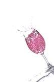 Spruzzatura del champagne fotografie stock
