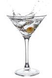 Spruzzatura del Martini Fotografia Stock Libera da Diritti