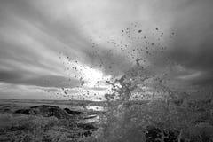 Spruzzatura dell'onda Fotografie Stock Libere da Diritti