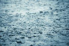 Spruzzatura di gocce della pioggia Immagini Stock