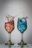 Spruzzatura ghiacciata delle bevande Fotografia Stock Libera da Diritti
