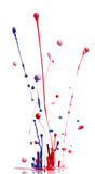 Spruzzatura multicolore della vernice immagini stock