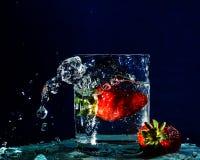Spruzzi Berry Splash fotografie stock