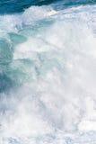 Spruzzo dell'acqua di mare fotografia stock libera da diritti