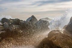 Spruzzo dell'oceano in California Immagine Stock Libera da Diritti