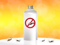 Spruzzo della zanzara Immagine Stock