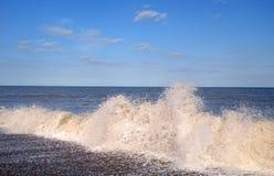 Spruzzo di mare in Suffolk Immagini Stock Libere da Diritti