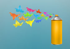 Spruzzo di origami Fotografia Stock