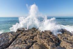 Spruzzo di Wave Fotografie Stock Libere da Diritti
