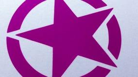 Spruzzo grafico della stella di rosa dipinto su superficie archivi video