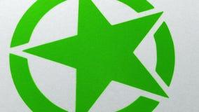 Spruzzo grafico della stella verde dipinto su superficie illustrazione vettoriale