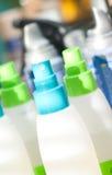 Spruzzo, lozione, estetiche, bottiglie di sanità Fotografia Stock