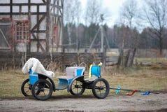 Spårvagn för ponny Arkivfoto