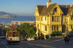 Spårvagn i San Francisco Fotografering för Bildbyråer