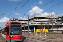 Spårvagn på universitetet av Bremen Royaltyfri Fotografi