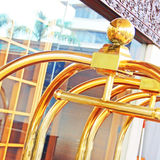 Spårvagnbagage på hotellet Royaltyfri Bild