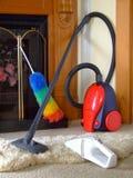 sprząta dom Zdjęcia Royalty Free