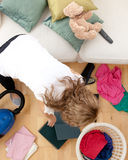 sprzątanie blond robi kobieta Obrazy Royalty Free