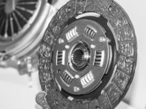 Sprzęgłowe części samochód Sprzęgłowego dyska i sprzęgła kosz fotografia stock