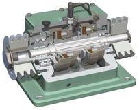 sprzęgłowy cutaway hamulca ilustracja wektor